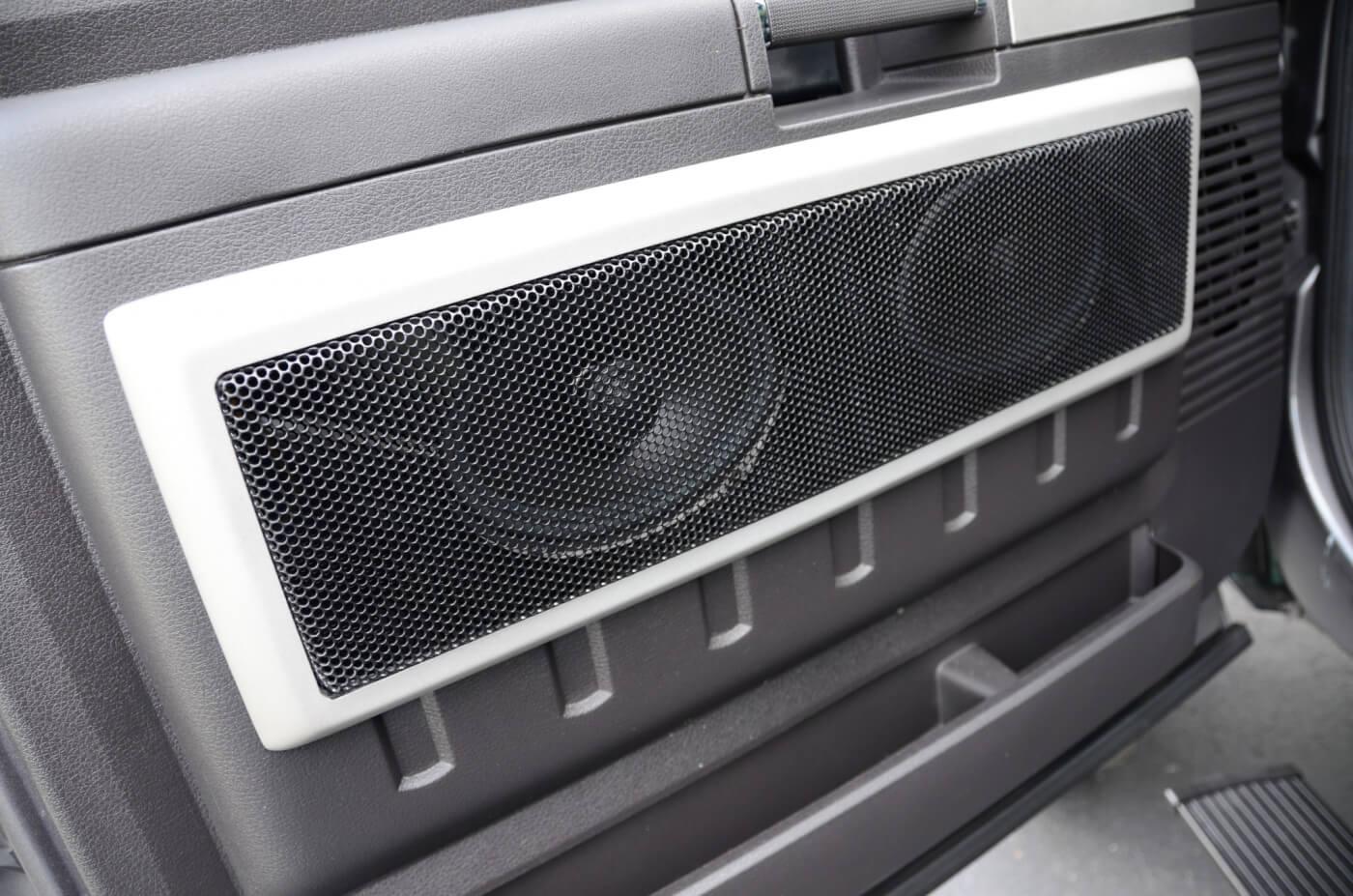 927 #54565B Custom Fiberglass Enclosures On Door Panels Contain Three Speakers  save image Custom Fiberglass Doors 45971400