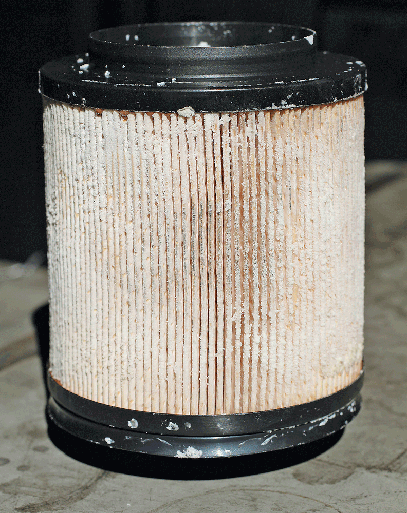 Repairing A Def Contaminated Fuel System Re Filters Diesel 10 Here You See Filter Thats Encrusted With Urea Crystals From This Is Sure Sign Of Contamination In The