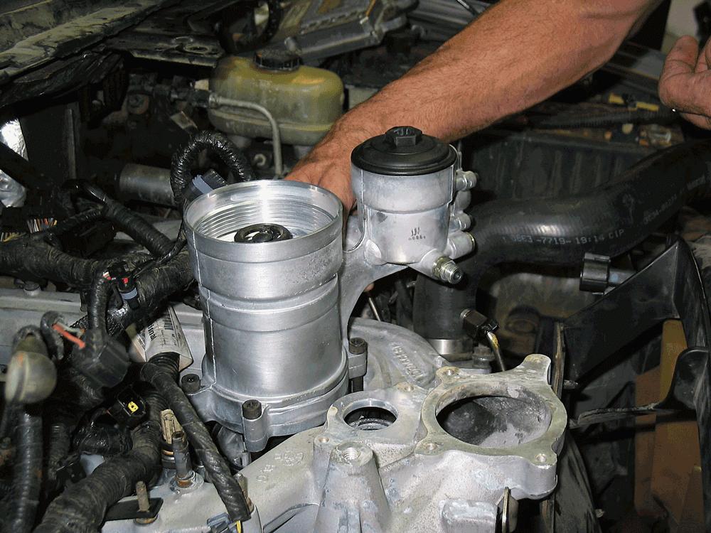 6 0 powerstroke fuel filter change 6 0 power stroke oil cooler upgrade  6 0 power stroke oil cooler upgrade