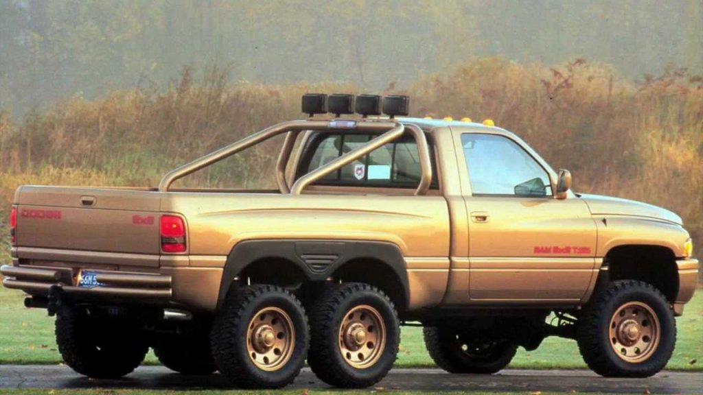 The original Dodge Ram T-Rex concept. Why stop at four wheels?