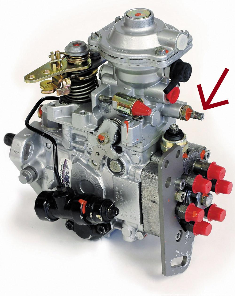 Fuel Screw on Dodge Cummins VE Fuel Pump