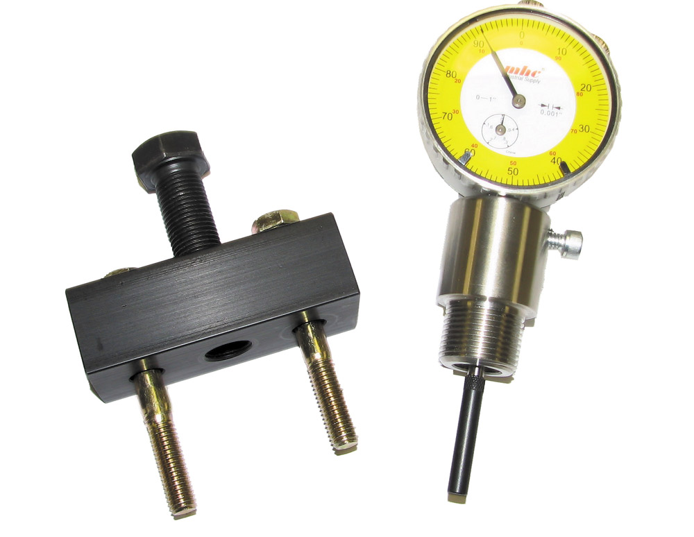 Dodge Cummins Injection pump removal tool and dial indicator
